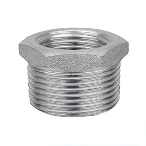 - GNSN Thread Reducer Bushing Pipe Fitting SS 304 NPT Hex Bushing Adapter Reducing (Male x Female, 3/4