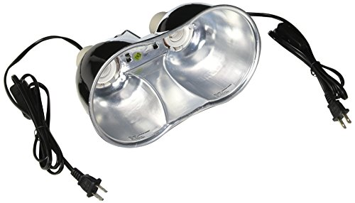 Zoo Med Combo Mini Deep Dome Clamp Lamp Fixture 2 x 5-1/2 Inch Deep Domes ()