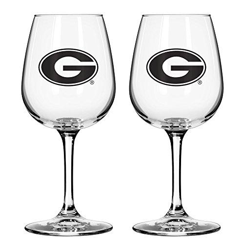 Georgia Bulldogs Gift (NCAA Georgia Bulldogs Game Day Wine Glass, 12-ounce, 2-Pack)