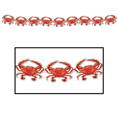 Crab Streamer Party Accessory (1 count) (1/Pkg) -