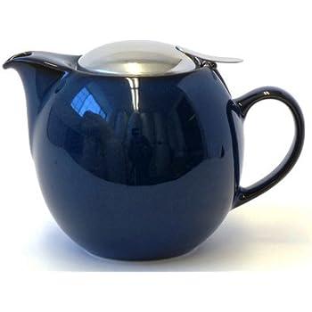 Bee House 26oz Round Ceramic Teapot (Jeans Blue)