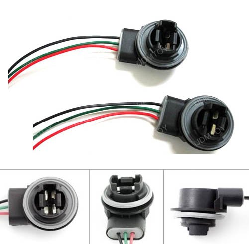 Tail Light Bulb Socket (iJDMTOY 3156 3157 Wiring Harness Sockets For LED Bulbs, Turn Signal Lights, Brake Lights)