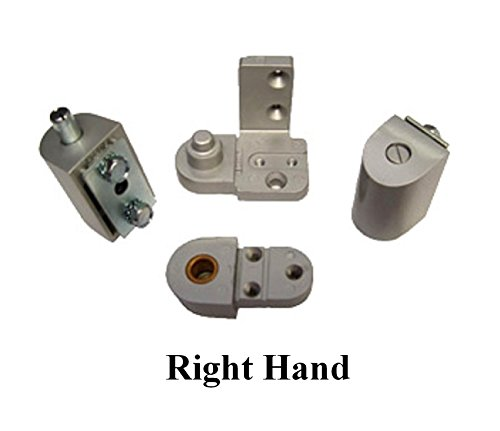 YKK Style Storefront Door Pivot Hinge Set - Choose Handing & Finish (Right Hand in Aluminum) ()