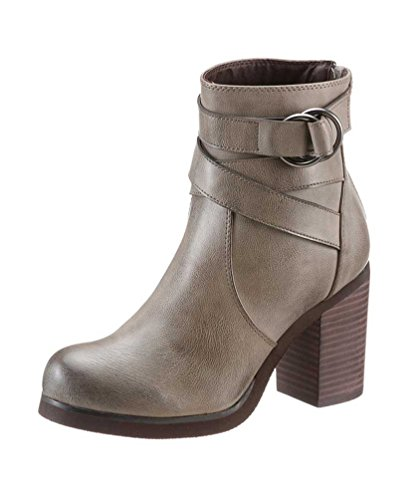 Übergröße Stiefelette Queen« BUFFALO Damen QUEEN »Shopping Used SHOPPING Grau rx76qr