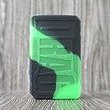 CEOKS for Voopoo Drag 2 177W Silicone Case, Anti-Slip Protective Silicone Case Skin Rubber Cover for Voopoo Drag 2 177W TC Mod Box Rubber case wrap Shield (Black/Green)