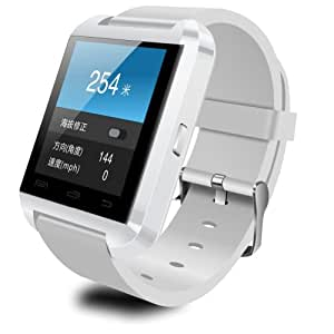LeexGroup®Stylish U8 Bluetooth Smart Watch WristWatch Phone Mate For IOS Android Apple iphone 4/4S/5/5C/5S Samsung S2/S3/S4/S5/Note 2/Note 3 HTC LG Sony Blackberry... (White)