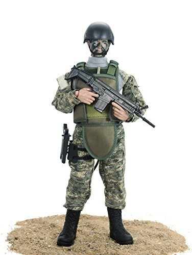 Gi Joe 12' Accessories - 12'' American Soldiers Special Forces Action Figure Set- ACU by Baellar