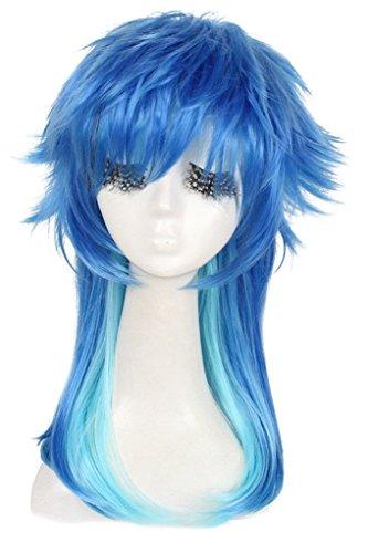 Long Blue&Green Dramatical Murder Seragaki Aoba heat-resistant cosplay wig ZY70