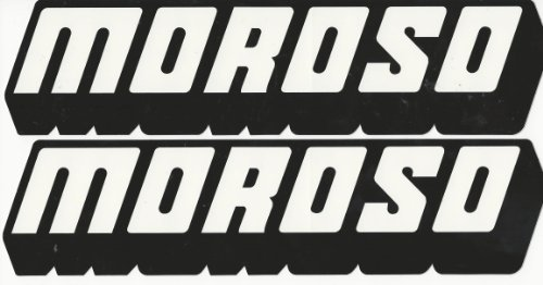 Moroso Racing Decals Stickers 12 Inches Long Size Set of (Moroso Racing)