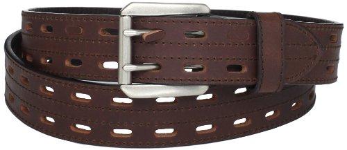Danbury Work Wear Men's Big Double Prong Belt, Brown, 52