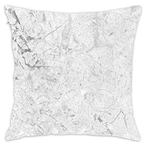 - Gray Marble Crackle Throw Pillowcase Soft Pillow Cover Decorative Home Decor Nice Gift Square Indoor/Outdoor 18x18 Inch