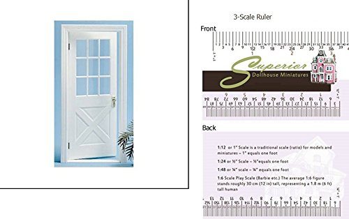 Superior Dollhouse Miniatures Dollhouse Miniature Colonial Crossbuck Door - Crossbuck Door