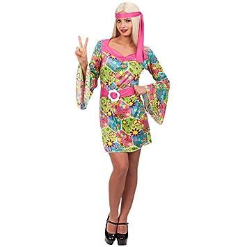 Carnival Toys 80388 - Hippie, para mujer Disfraz: Amazon.es ...