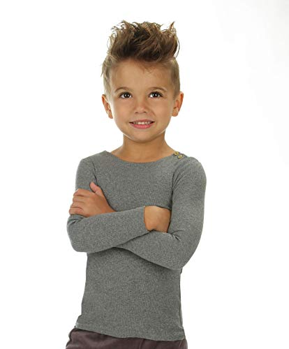 - Silky Toes Baby Infant Ribbed T-Shirt Boys Girls (3 Years, Heather Grey)
