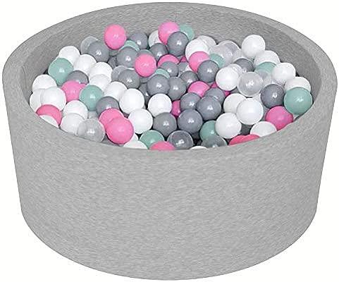 MeowBaby 90X30cm//Ohne B/älle /∅ 7Cm B/ällebad Baby Spielbad Mit B/ällen Rund Kugelbad B/ällchenbad B/ällchenpool Made In EU Mint