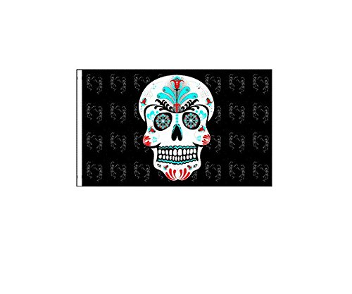 6 ft. Sugar Skull Safety Flag with 1/4