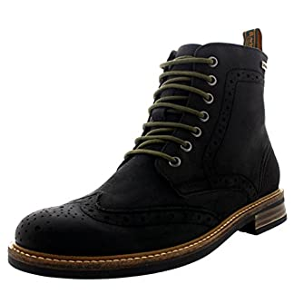 Mens Barbour Belsay Smart Leather Work Office Lace Up Brogue Ankle Boots 9