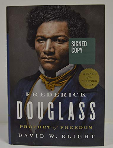 """DAVID W. BLIGHT signed""""Frederick Douglass: Prophet of Freedom"""" Hardcover Book FIRST EDITION"""