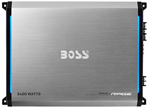 BOSS AUDIO RGD3400 Rage 3400-Watt Monoblock, Class D 1 to 8 Ohm Stable Monoblock Amplifier with Remote Subwoofer Level Control (Gta 4 Platinum Hits compare prices)