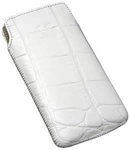 Suncase - Funda de cuero para HTC Gratia color blanco con relieve