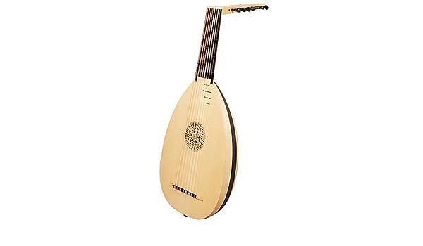 muzikkon renacimiento Laute, 8 m por supuesto arce laúd de madera ...