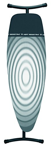 Brabantia Ironing Board with Iron Parking Zone, Size D, Extra Large - Titan Oval Cover by Brabantia