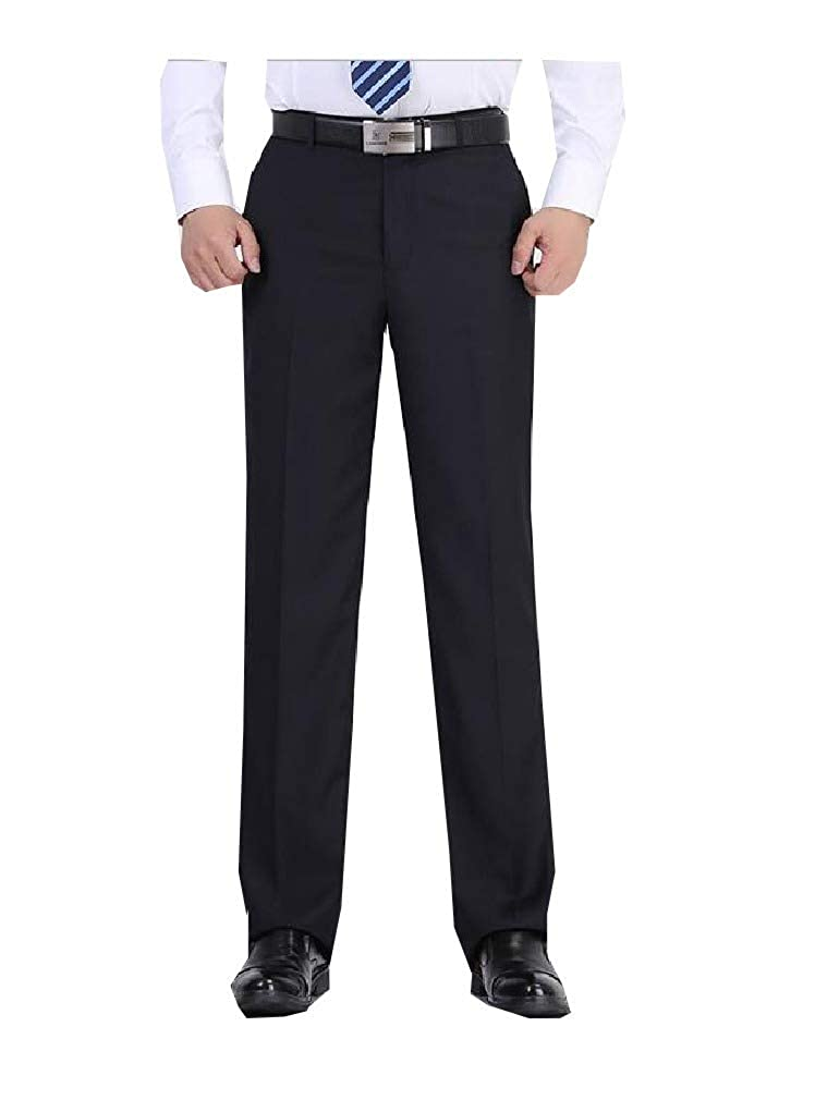 Unastar Mens Wrinkle-Resistant Business Long No Iron Trim-Fit Chino Pant