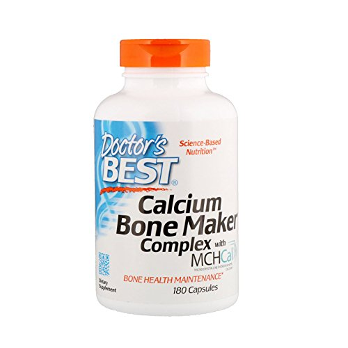 (Doctor's Best Calcium Bone Maker Complex with MCHCal, Non-GMO, Gluten Free, Soy Free, 180 Caps)