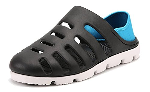 Femaroly Slippers Men Summer Close Toe Sandals Boys Beach Shoes Black 9.5M by Femaroly