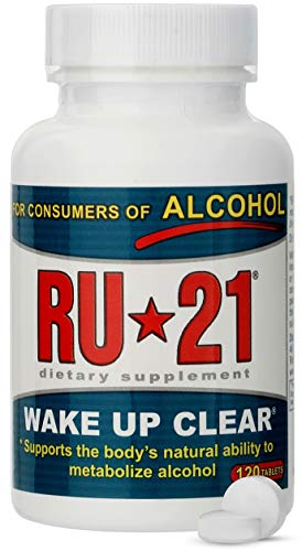 RU-21 Wake Up Clear After Drinking, Supports The Body's Ability to Metabolize Alcohol (120-Pill Bottle)