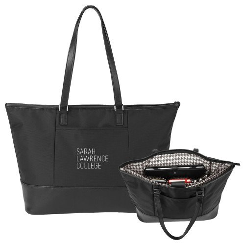 Sarah Lawrence Stella Black Computer Tote 'Primary Mark' by CollegeFanGear