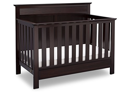 Serta Fall River 4-in-1 Convertible Baby Crib, Dark Chocolate