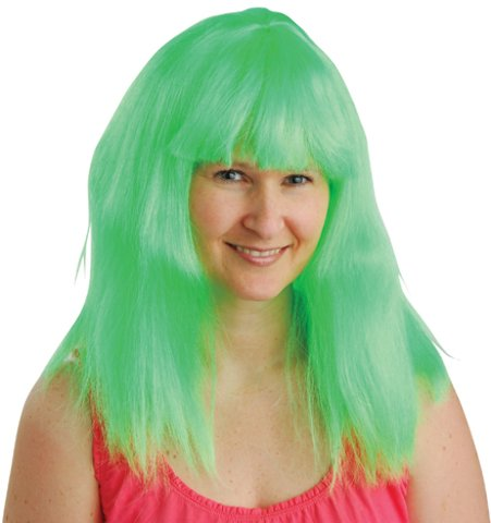 dolly2u Green Neon Costume Wig Case Pack 7
