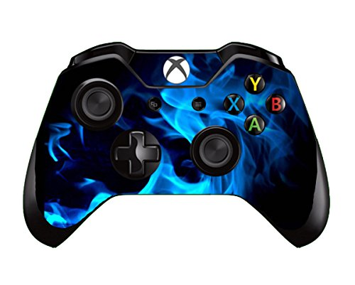 UUShop Blue Fire Flame Vinyl Skin Decal Cover for Microsoft Xbox One Controller wrap sticker skins