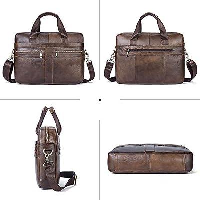 0d79fc201c Borsa a Tracolla messenger in Vera Pelle Per laptop da 14 pollici ...