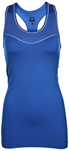 Nike Women's Pro Hypercool Limitless Tank Top-Light Photo Blue-XL