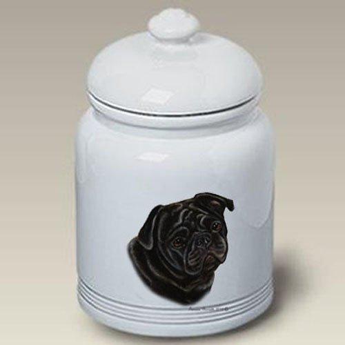Pug Black - Tamara Burnett Treat Jars