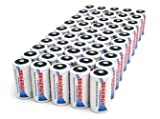 50 pcs of Tenergy Premium C Size 5000mAh High Capacity High Rate NiMH Rechargeable Batteries