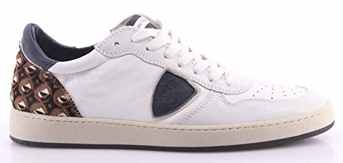 Zapatos Sneakers Hombre PHILIPPE MODEL Lakers Bassa Uomo Pony White Blue Made IT