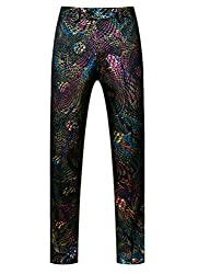 Men's Luxury Sequin Printed Unhemmed Pants