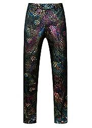 Men's Luxury Sequin Printed Unhemmed Pants