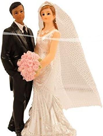 Unbekannt 2er Set Taubenpaar Figur Hochzeitspaar Hochzeit Deko 16 cm Ring Ehe Feier