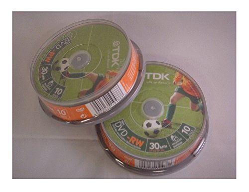 TDK DVD-RW 1.4Gb 8cm 30min Spindle 10 camcorder mini dvd 1.4
