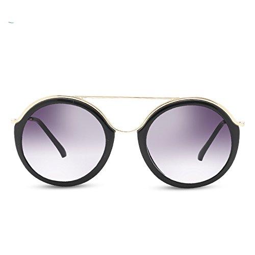 Sunglasses gafas ronda rectángulo de Gray polarizadas Guía púrpura mujer sol UV400 TL gafas del Hpqnx44