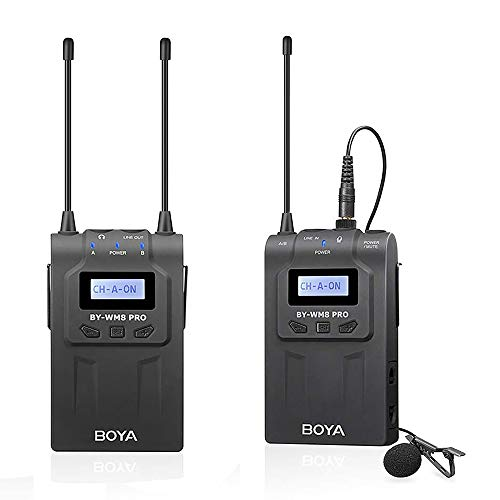 BOYA by-WM8 Pro-K1 UHF Dual-Channel Wireless Microphone System with One Receiver and One Transmitter