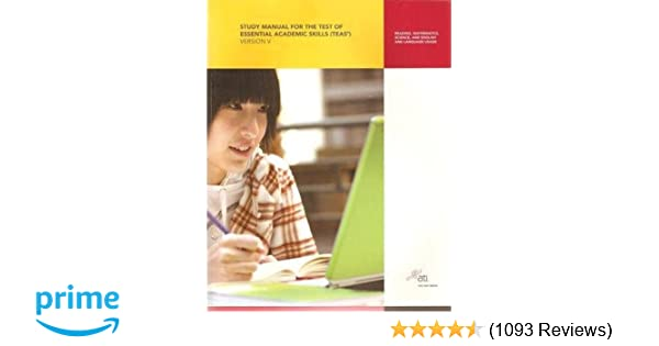study manual for the test of essential academic skills version 5 rh amazon com Manual Review Clip Art teas review manual version 5.0 pdf