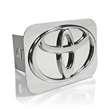 Toyota Chrome Logo Tow Hitch Cover, Made in USA