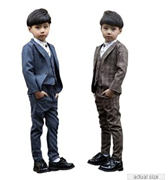 0c534fd8893567 フォーマル スーツ4点セット 男の子 キッズ 長袖ジャケットコート&長ズボン ベスト男の子 スーツ