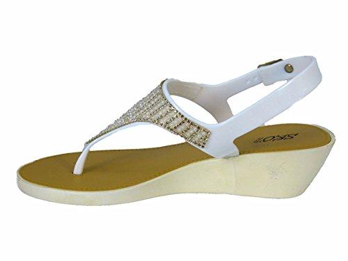 White SKO'S Femme pour Sandales 289 2159 wtAO6aqAx