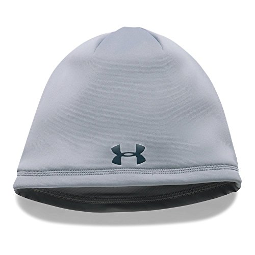 Under Armour Men's ColdGear Reactor Elements Beanie, Overcast Gray (941)/True Ink, One (Mens Reactor)